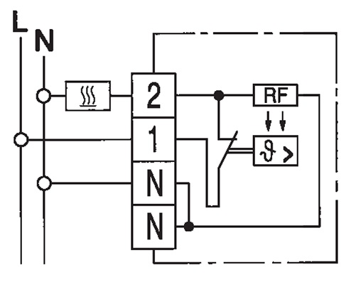 Схема подключения терморегулятора EBERLE RTR-E 6121