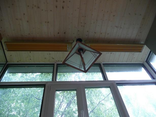 Применение инфракрасных обогревателей на балконе